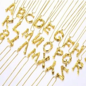 Jewelry - Bamboo Initial Necklace